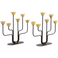 Pair of Candelabra by Gunnar Andersen for Ystad Metal