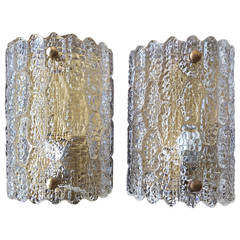 Large Sconces by Orrefors
