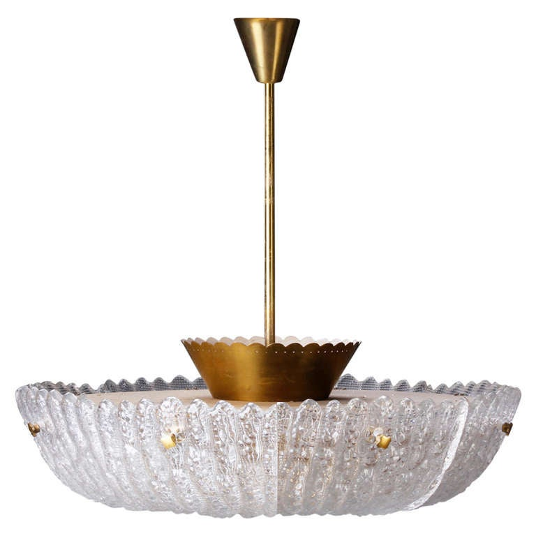"""Large """"Embassy"""" Chandelier by Carl Fagerlund for Orrefors"""