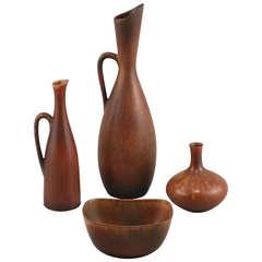 Set of Stoneware by Carl-Harry Stalhane