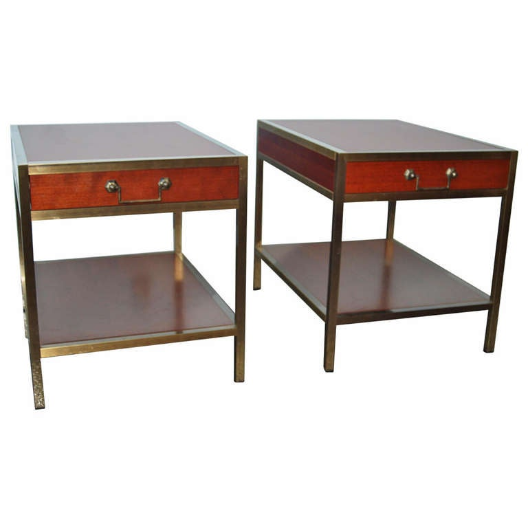 Pair of Scandinavian Night Tables
