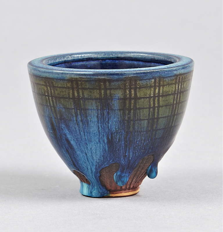 VASE, Wilhelm Kage, Farsta. Sweden, Circa 1950th.