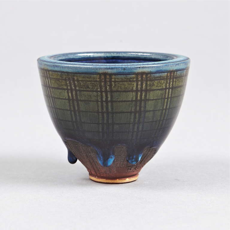 Scandinavian Modern Vase by Wilhelm Kage, Farsta For Sale