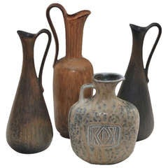 Set of Four Vases by Gunnar Nylund