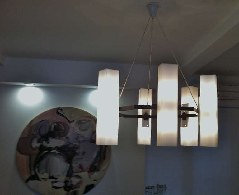 Mid-20th Century Chandelier by Jan Wahlman, Sweden / 2 available For Sale