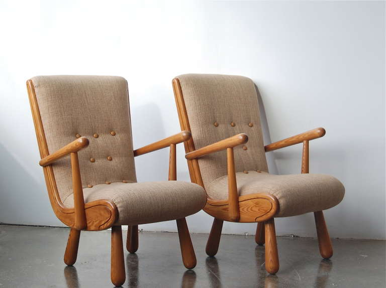 Pair of Scandinavian Armchairs, in the Style of Philip ...