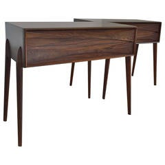 Near a Pair of Low Cabinets/ Nightstands by Arne Vodder