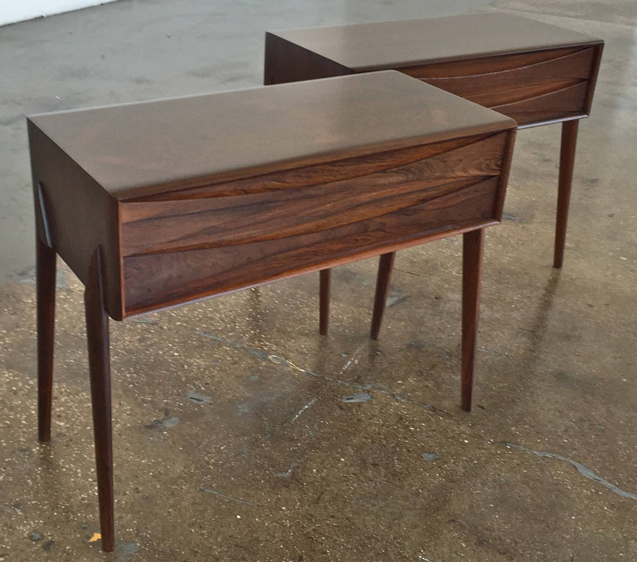 near a pair of low cabinets nightstands by arne vodder at stdibs - near a pair of low cabinets nightstands by arne vodder