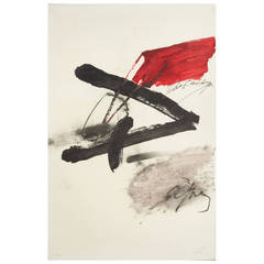Antoni Tapies, Signed Lithograph