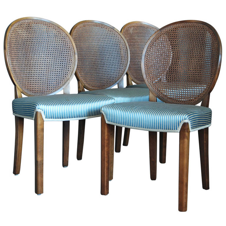 Set of Four Chairs by Axel Einar Hjorth for Nordiska Kompaniet