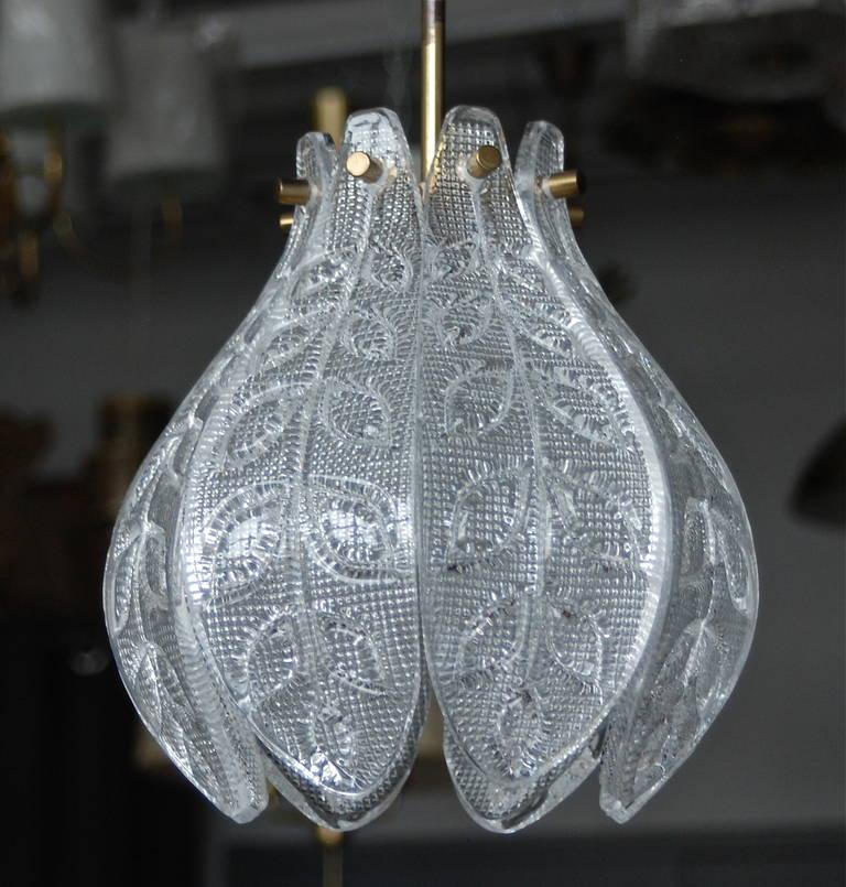 Scandinavian Modern Pendant by Orrefors For Sale