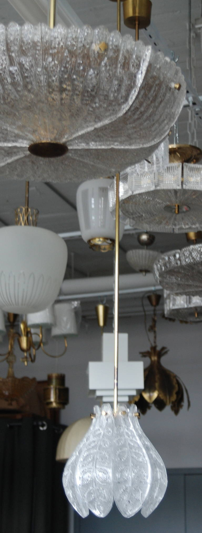 Pendant by Orrefors In Good Condition For Sale In Long Island City, NY
