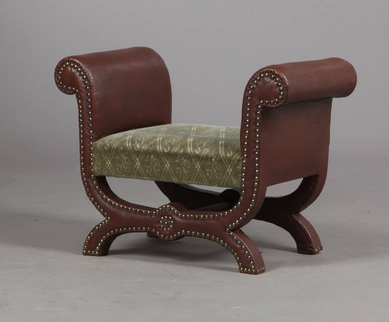 A bench or foot stool designed by Otto Schulz, Sweden, circa 1930s. Width 26