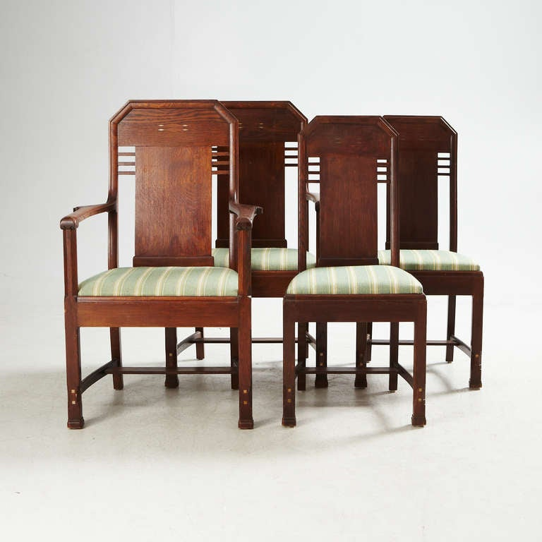 Scandinavian Modern Set of Eight Chairs by Nordiska Kompaniet, David Blomberg Attributed For Sale