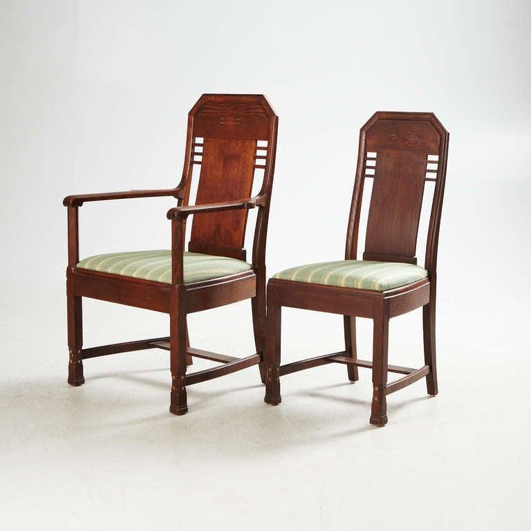 Swedish Set of Eight Chairs by Nordiska Kompaniet, David Blomberg Attributed For Sale