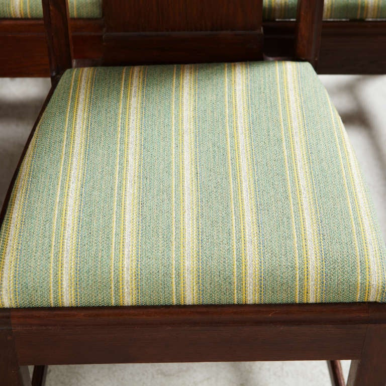 Oak Set of Eight Chairs by Nordiska Kompaniet, David Blomberg Attributed For Sale