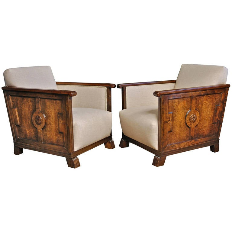 Pair of Chairs by Axel Einar Hjorth