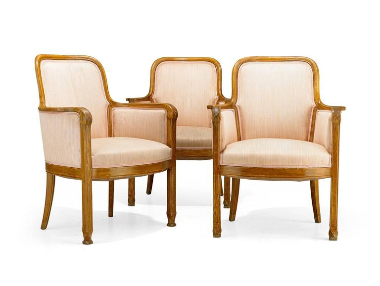 Scandinavian Modern  Armchairs David Blomberg Attributed, circa 1909 For Sale