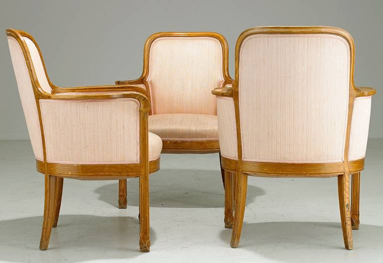 Swedish  Armchairs David Blomberg Attributed, circa 1909 For Sale