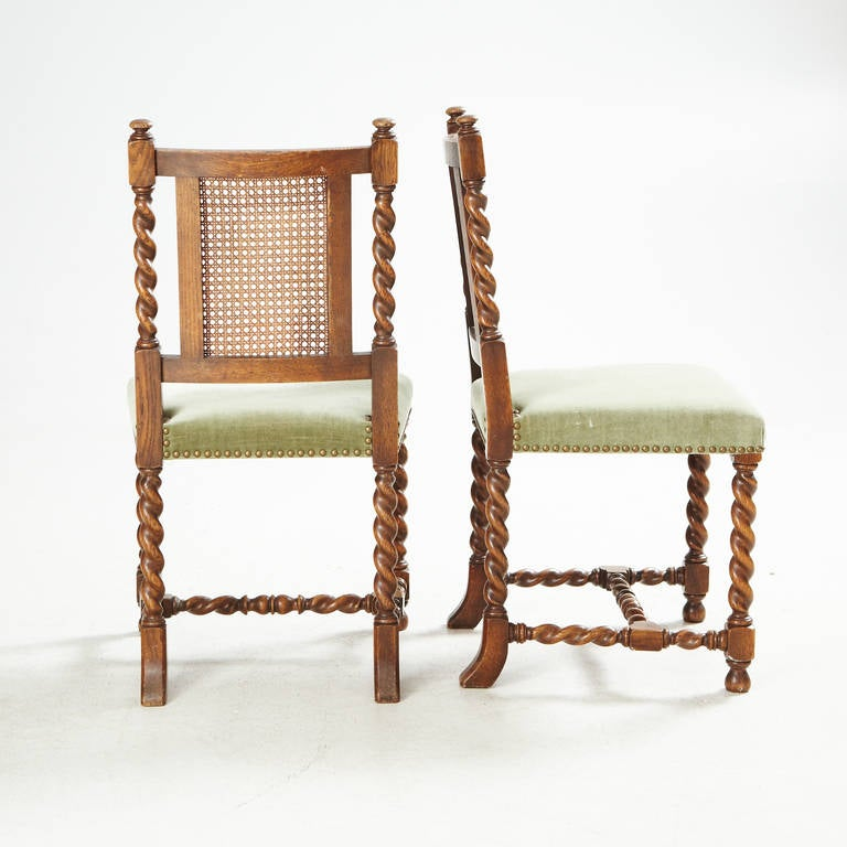 Eight Dining Chairs by Axel Einar Hjorth for NK In Good Condition For Sale In Long Island City, NY