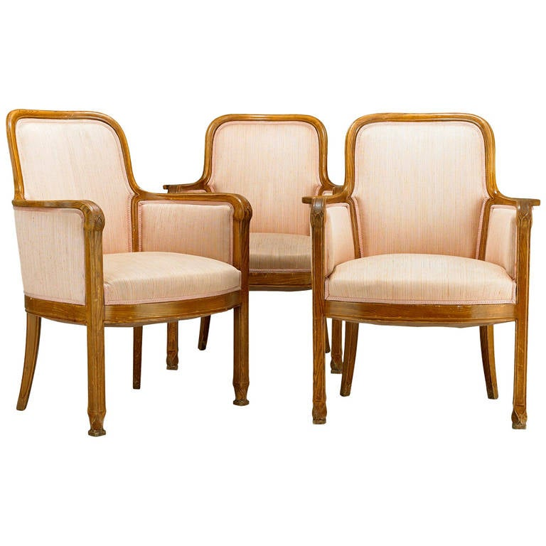 Armchairs David Blomberg Attributed, circa 1909 For Sale