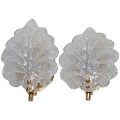 Pair of Sconces Probably Orrefors