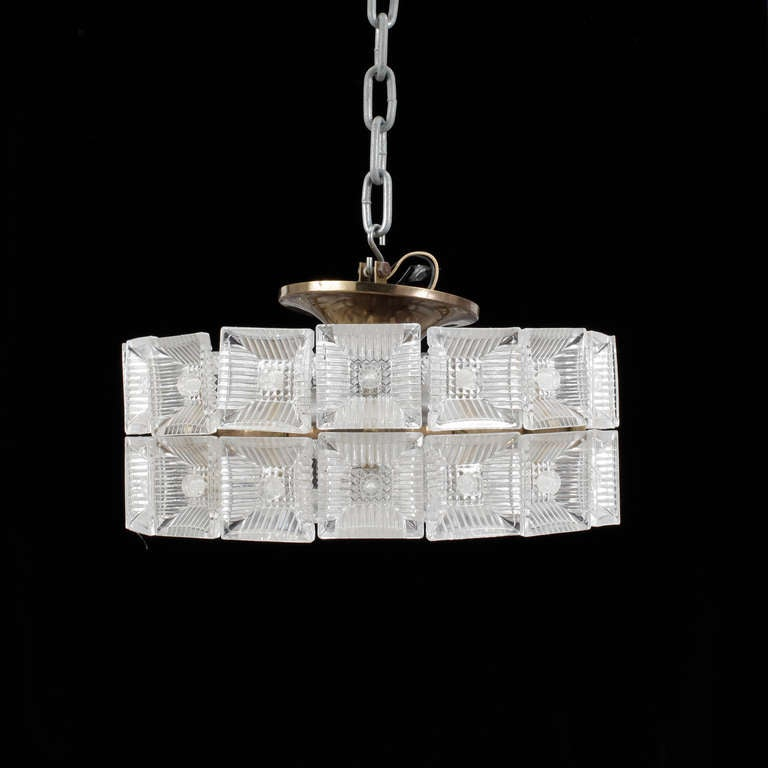 Scandinavian Modern Pendant by Carl Fagerlund for Orrefors / 2 available For Sale