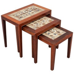 Set of Three Nesting Tables by Severin Hansen Jr
