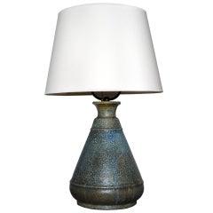Large Stoneware Lamp by Hugo Liisberg for B&G