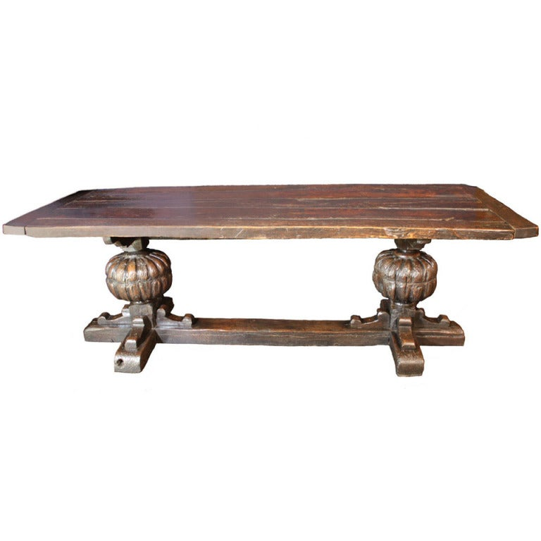 17th Century  English Jacobean Refectory Table For Sale