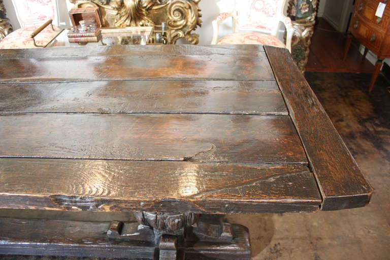 17th Century  English Jacobean Refectory Table In Excellent Condition For Sale In Dallas, TX
