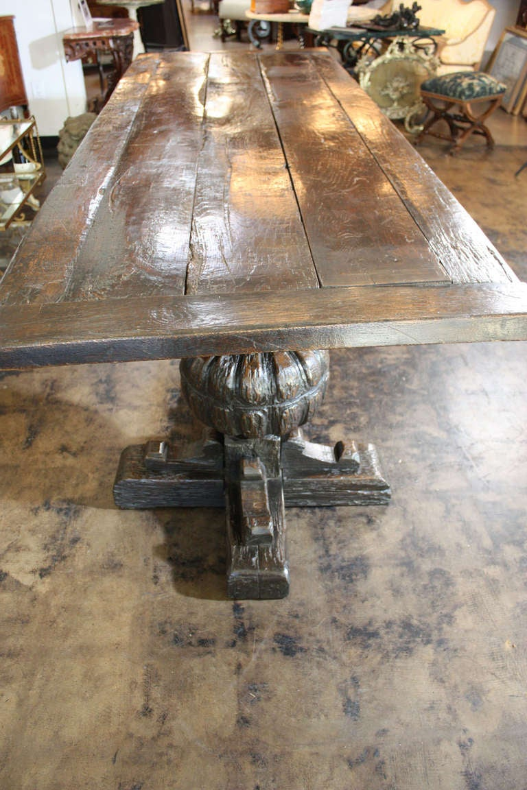 18th Century and Earlier 17th Century  English Jacobean Refectory Table For Sale