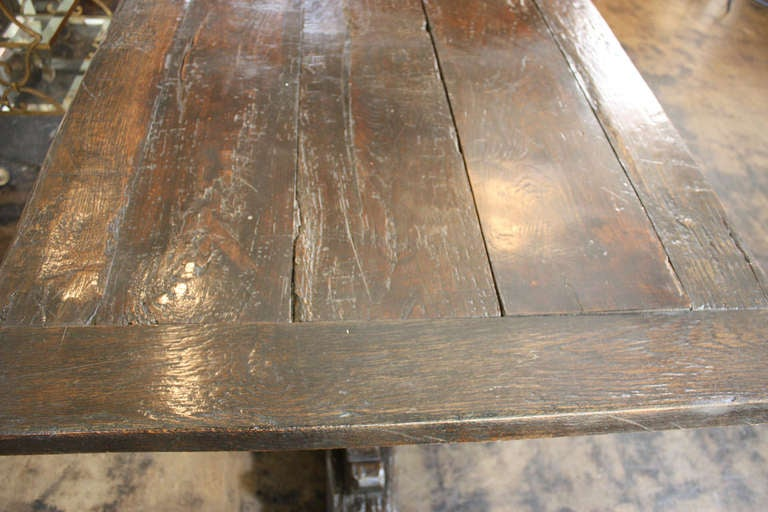 17th Century  English Jacobean Refectory Table For Sale 1