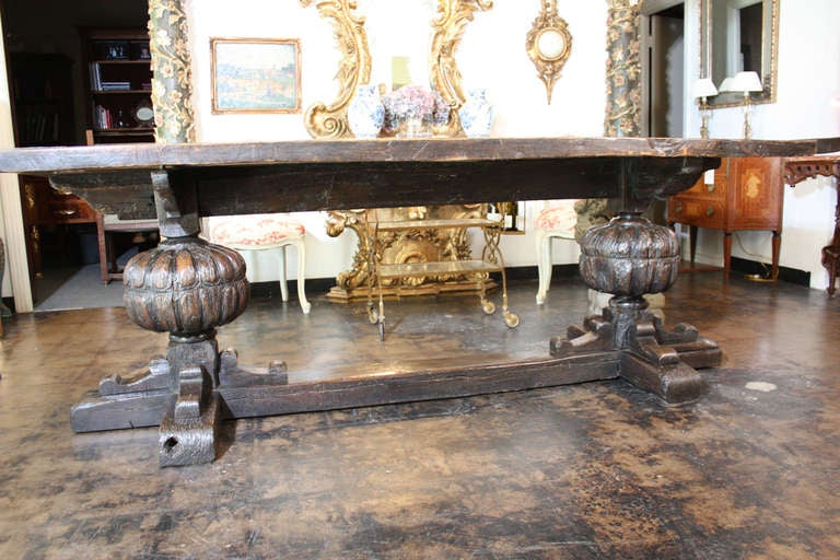 17th Century  English Jacobean Refectory Table 6