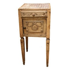 Antique French Bleached Oak Nightstand