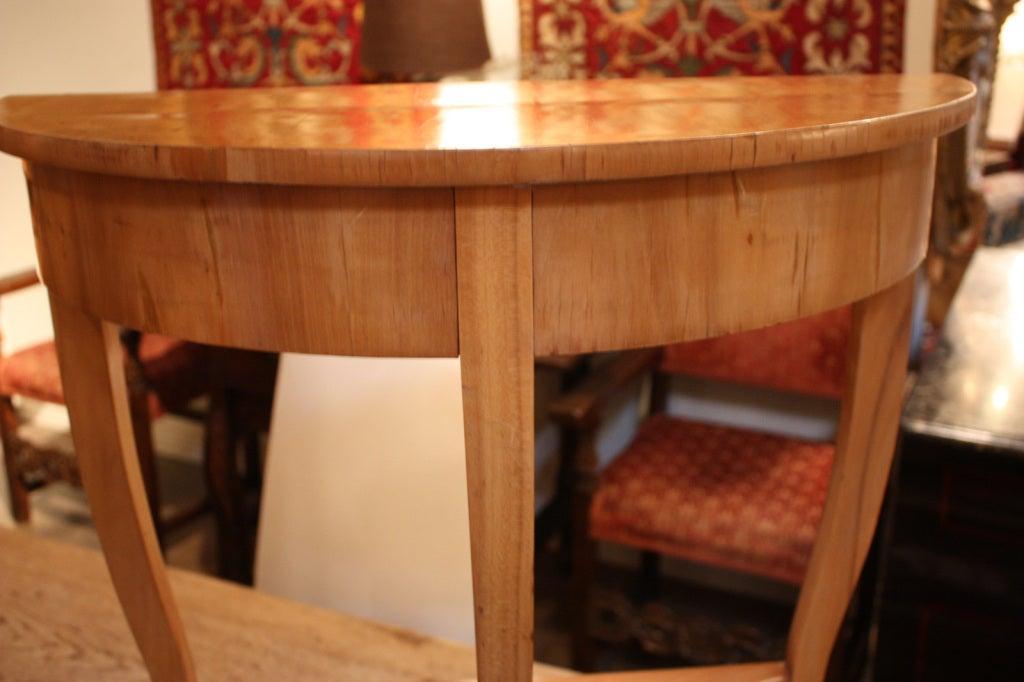 Antique biedermeier demi lune table at 1stdibs for Table cuisine demi lune