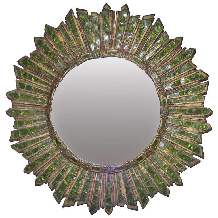 Line vautrin style mirror at 1stdibs for Miroir line vautrin