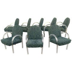 Set of 8 Acrylic Dining Chairs by Charles Hollis Jones