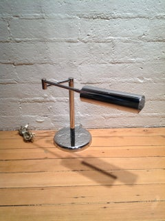 Chrome Adjustable Arm Table Lamp By Koch And Lowy