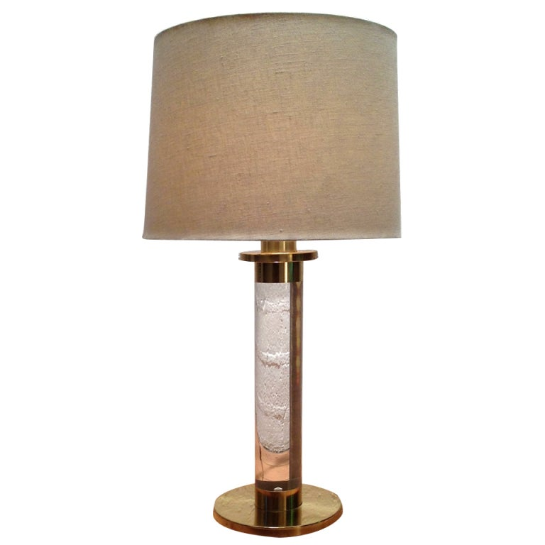 lucite and brass lamp by frederick cooper at 1stdibs