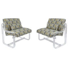Spectacular Pair of Acrylic Lounge Chairs