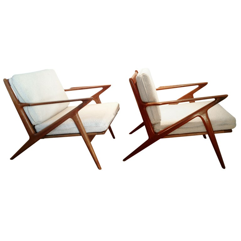 Danish z chairs by poul jensen for selig at 1stdibs for Poul jensen z chair