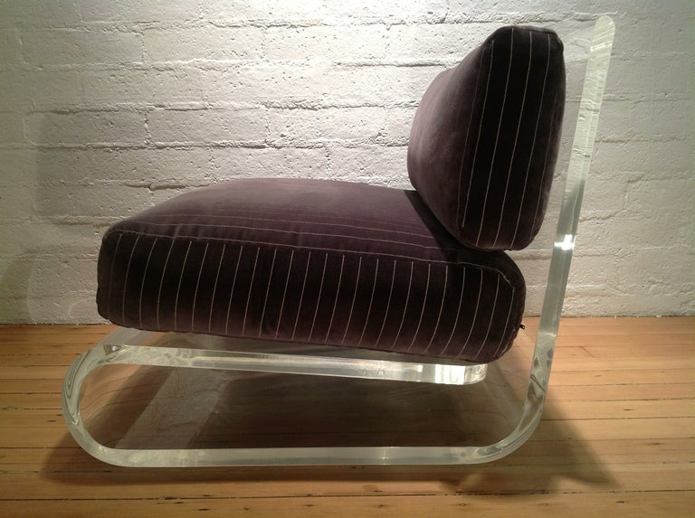 An exceptional Acrylic Lounge Chair by Gary Gutterman 5