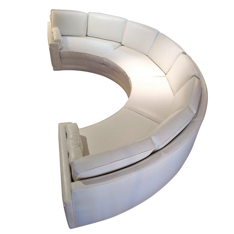 Gorgeous Semi-Circle Sofa 1 - Gorgeous Semi-Circle Sofa At 1stdibs
