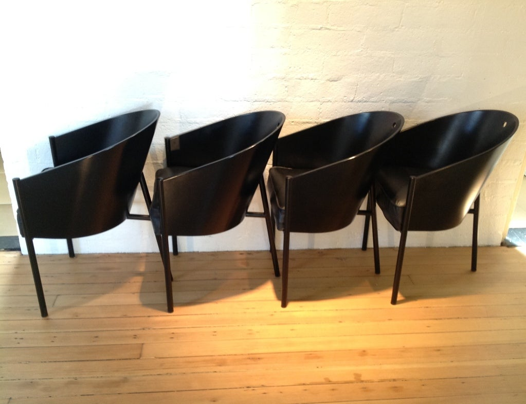 A Set Of Four Black On Black Costes Chairs By Philippe