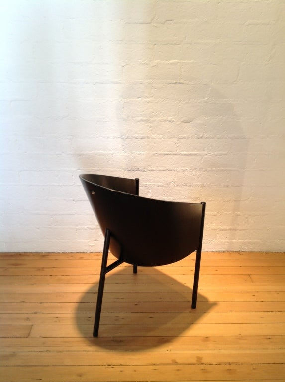 A set of four black on black costes chairs by philippe starck at 1stdibs - Chaises philippe starck ...