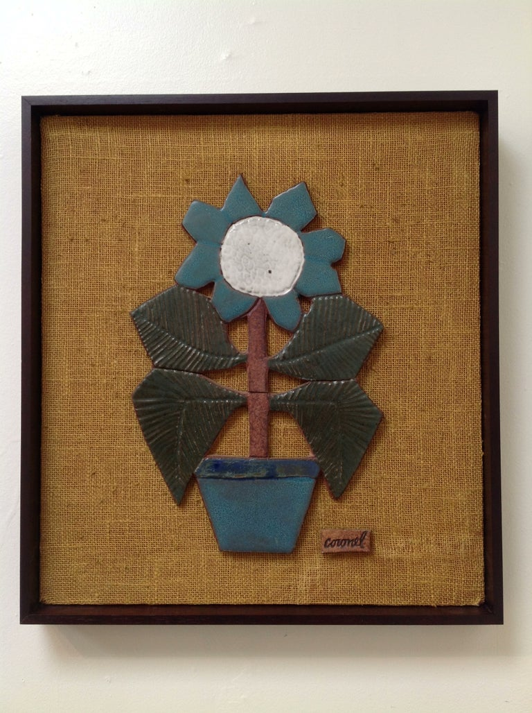 Mounted Studio Ceramic by Raul Coronel For Sale