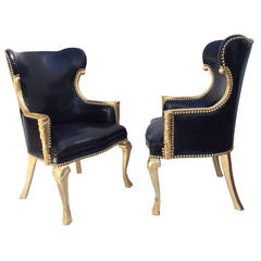 Pair of Phyllis Morris Embassy Wing Chairs