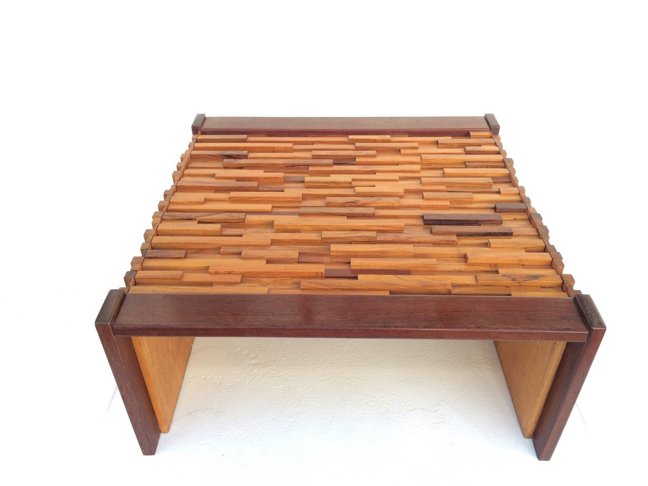 Mixed Tropical Wood Coffee Or Cocktail Table By Percival Lafer At