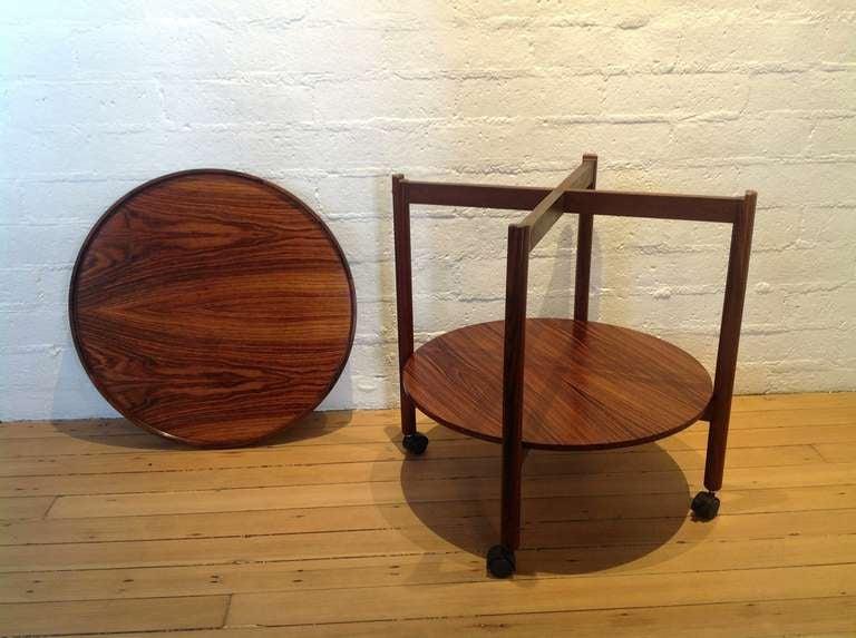 Scandinavian Modern Rosewood Danish Bar cart